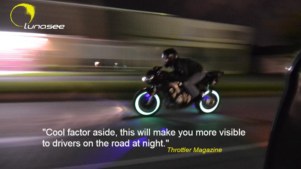 Motorcycle Safety Lighting Innovative Wheel